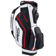 titleist_lightweight_golfbag_sort_hvid_roed