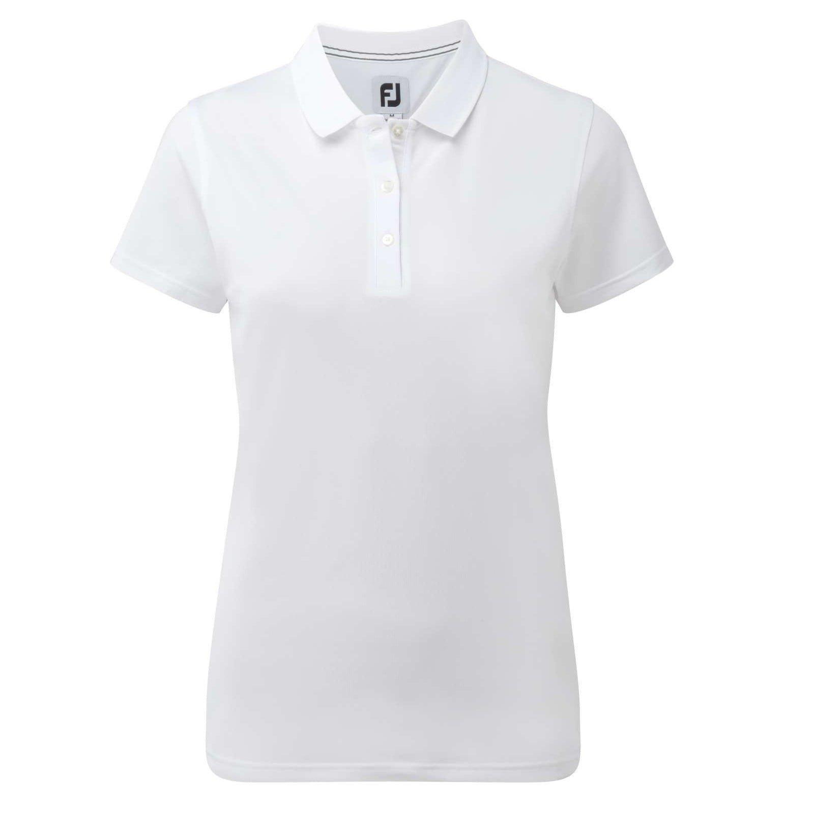 Footjoy Polo T shirt til kvinder Hvid