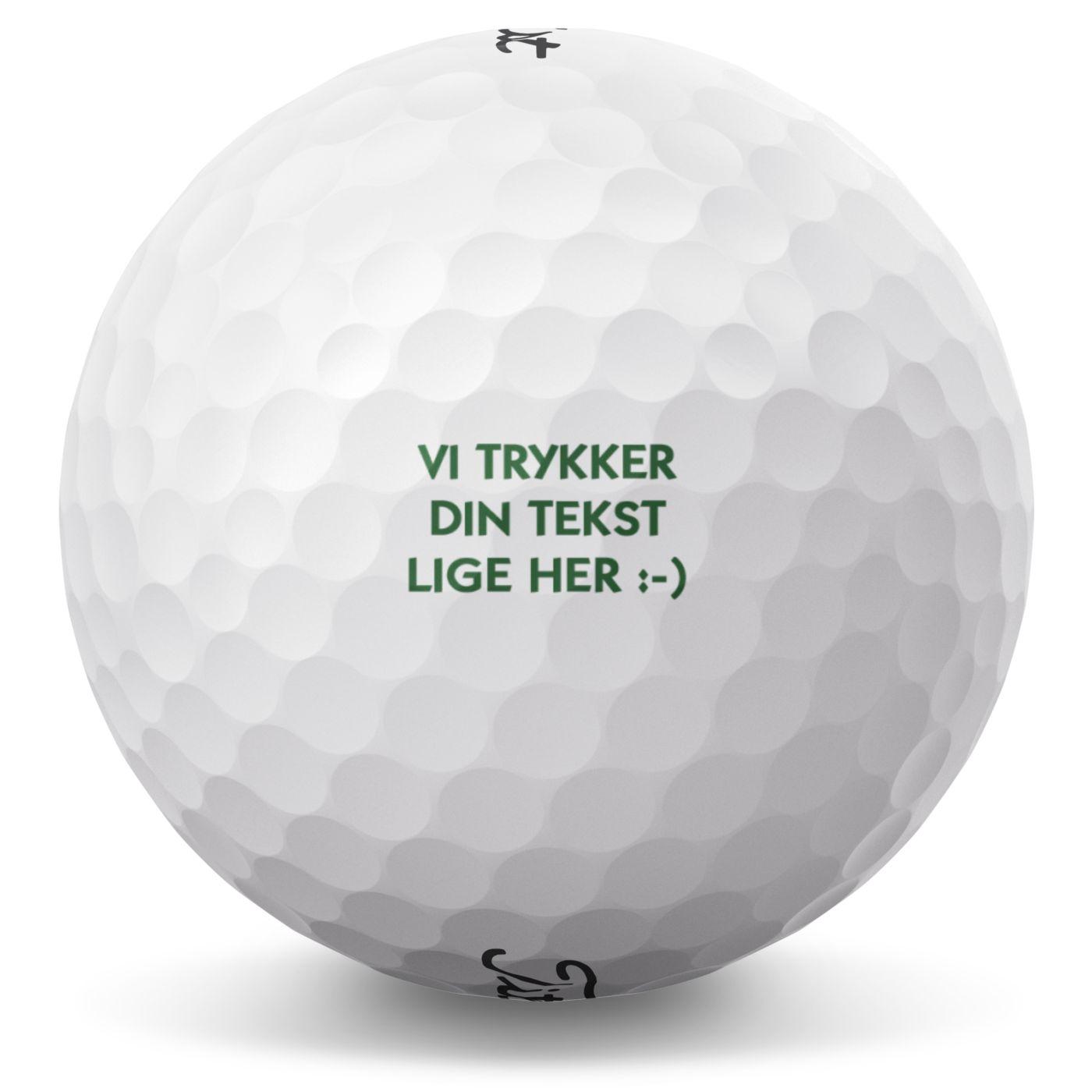 Golfbold med tekst