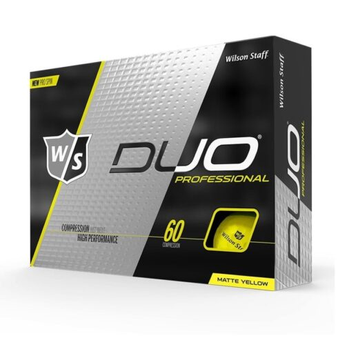 Wilson Staff Duo Professional Gule Golfbolde Med Logo