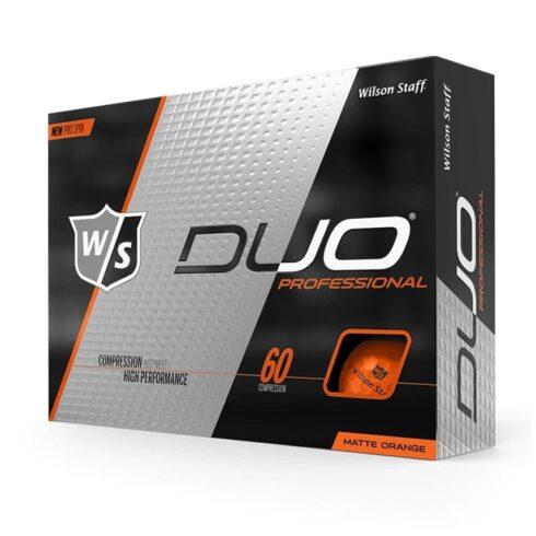 Wilson Staff Duo Professional Orange Golfbolde Med Logo